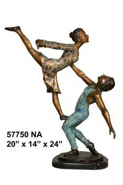 Bronze Ballerina Lady and Man