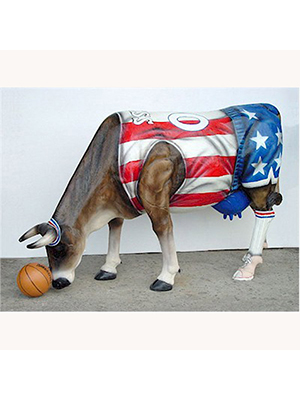 Basketball Cow (with or without Horns)
