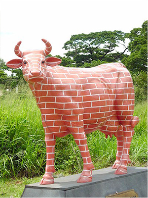 """ The Brick Wall "" Cow (with or without Horns)"