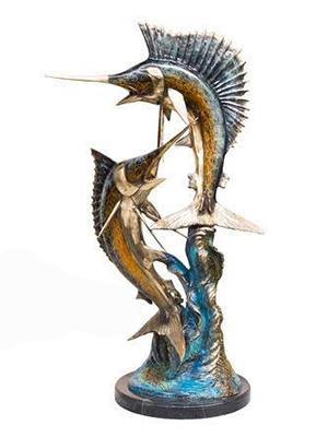 NEW Bronze Fish Statue
