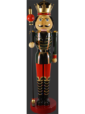 Nutcracker with Scepter in Right Hand
