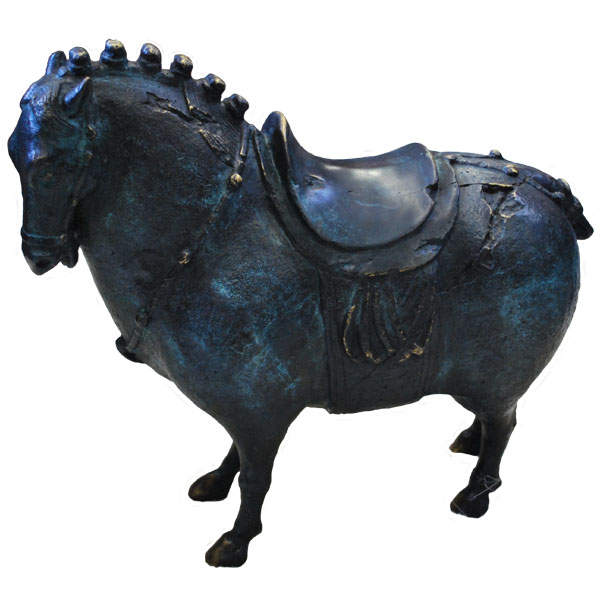 Bronze Horse with Saddle