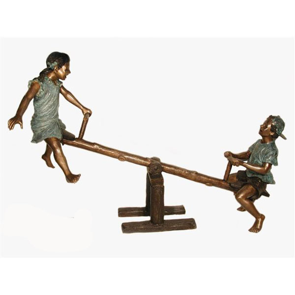 "Bronze Kids on the "" See Saw """